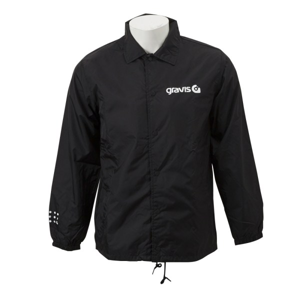 【gravisウェア】M G COACH JACKET グラビス コーチジャケット G18FW-02 18HO BLACK
