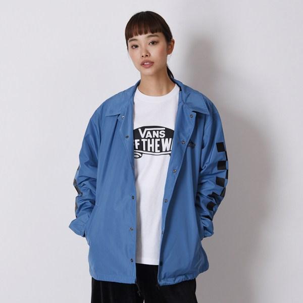 【VANS】Neon Color Coach Jacket ヴァンズ ネオンカラーコーチジャケット VA19SS-MJ04 19SP N-BLUE