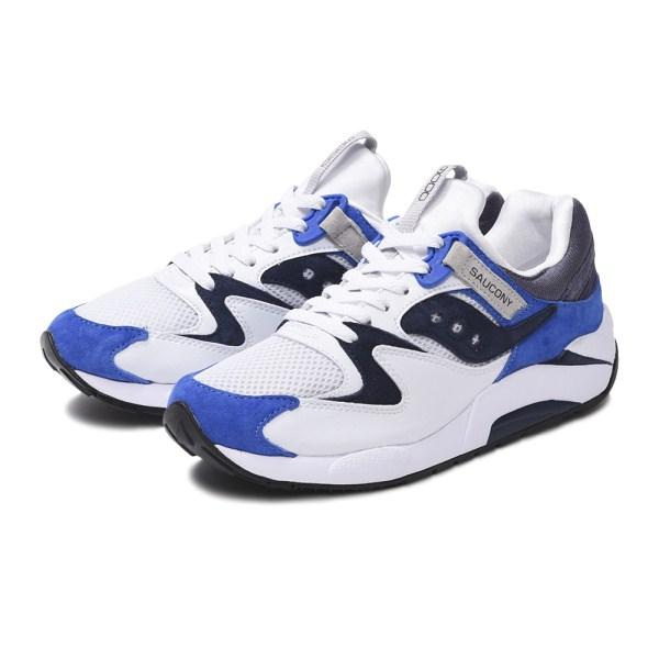 【SAUCONY】 サッカニー GRID 9000 グリッド 9000 S70439-1 WHITE/BLUE