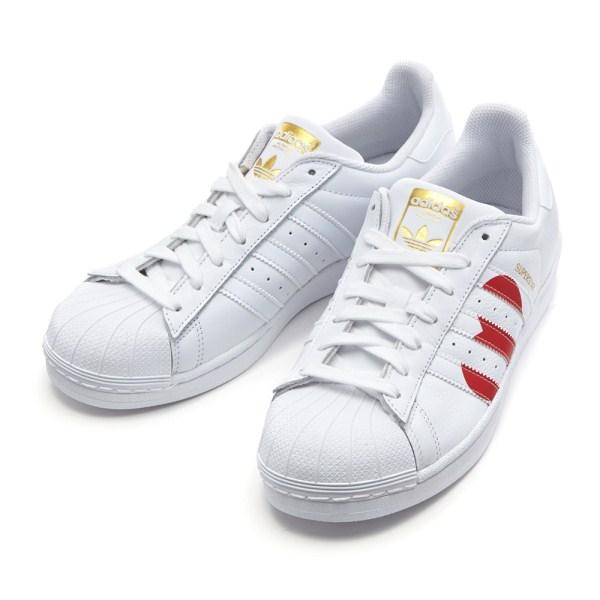 【ADIDAS】 アディダスオリジナルス SUPERSTAR スーパースター EG3396 WHITE/RED