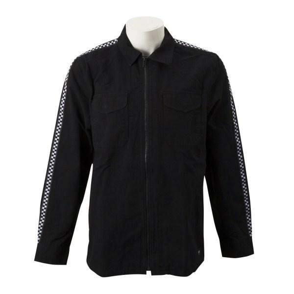【VANSウェア】CHECKER POINT LS ヴァンズ ロングスリーブシャツ VN0A3W3SBLK BLACK