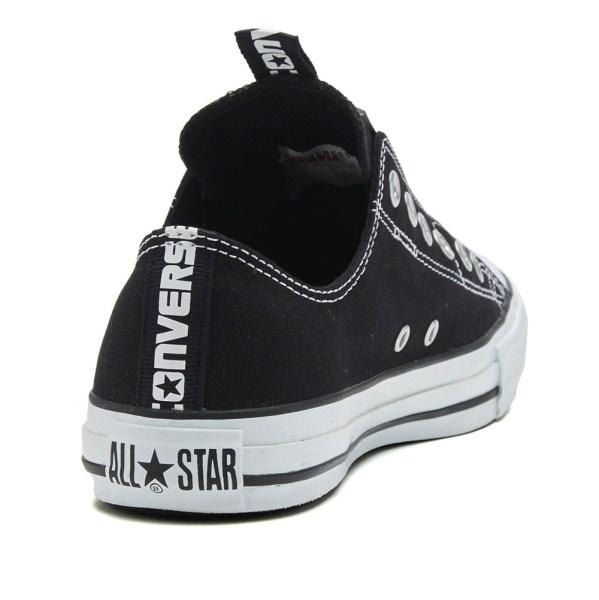 【CONVERSE】 コンバース ALL STAR LOGOTAPE SLIP OX オールスター ロゴテープ スリップ オックス 32863431 ABC-MART限定 *BLACK