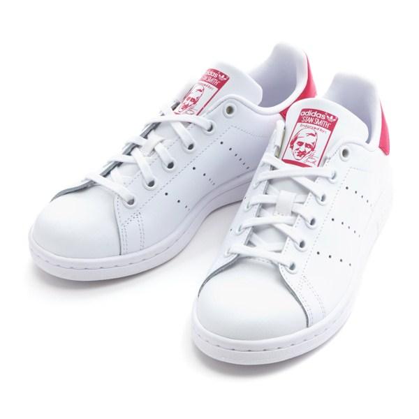 new style 1731f 3f237 Lady's Adidas originals STAN SMITH J Stan Smith B32703 WHITE/WHITE