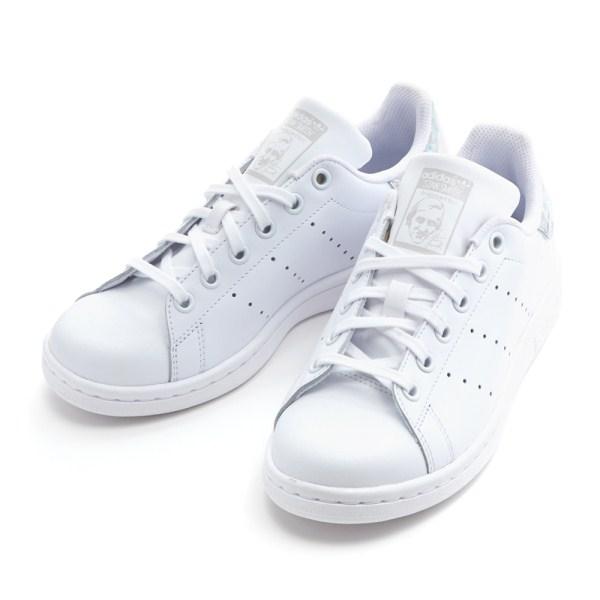 różne style informacje o wersji na autentyczna jakość Lady's Adidas originals STAN SMITH J Stan Smith EE8483 WHITE/WHITE