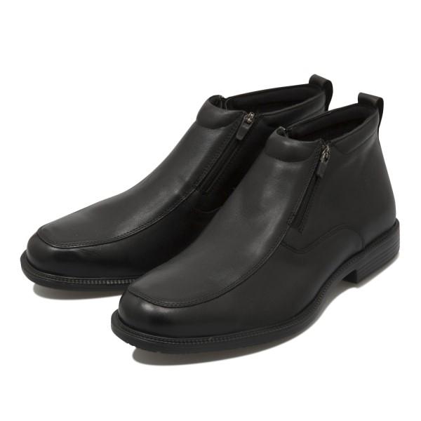 【HAWKINS】 防水 防滑 ビジネスシューズ AL IT10 GF W-ZIP ホ-キンスエアライト アイステック ダブルジップ ブーツ HB80203 BLACK