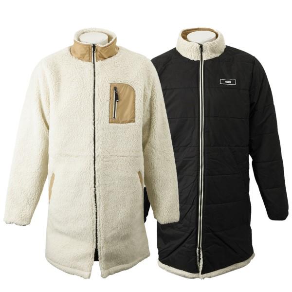 【VANSウェア】CASSIN ヴァンズ リバーシブルジャケット VN0A457NBWQ BONE 白い