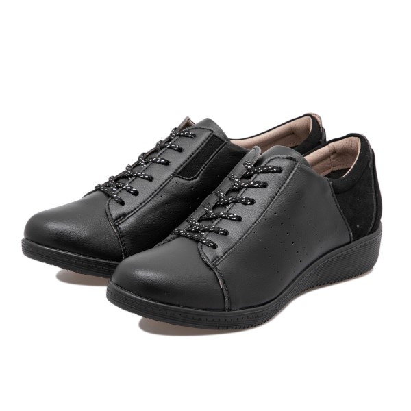 【TEXCY】 テクシー LACE-UP CASUAL SNEAKER レースアップ カジュアル スニーカー TL-17340 BLACK