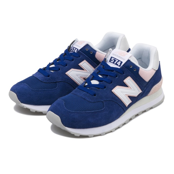 レディース 【New Balance】 ニューバランス WL574SAM(B) NAVY/WHITE(SAM)