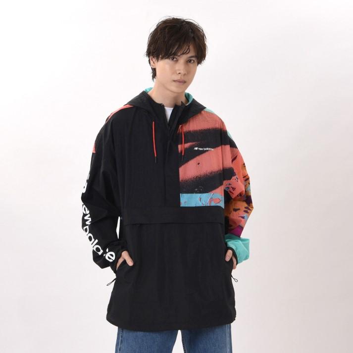 ジャケット アウター 送料無料 New Balanceウェア ニューバランス 激安通販 MJ01569BK BK ブラック ウェア Mマイケルリーダーアノラックジャケット 新作続
