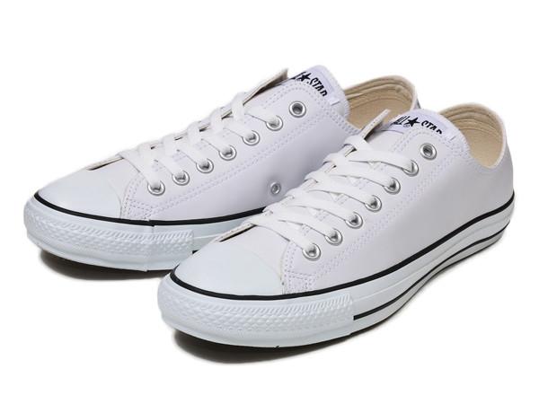 【converse】 コンバース LEATHER ALL STAR OX レザー オールスター オックス WHITE