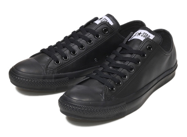 【converse】 コンバース レザーオールスター OX LEATHER ALL STAR OX BLACK_MONO