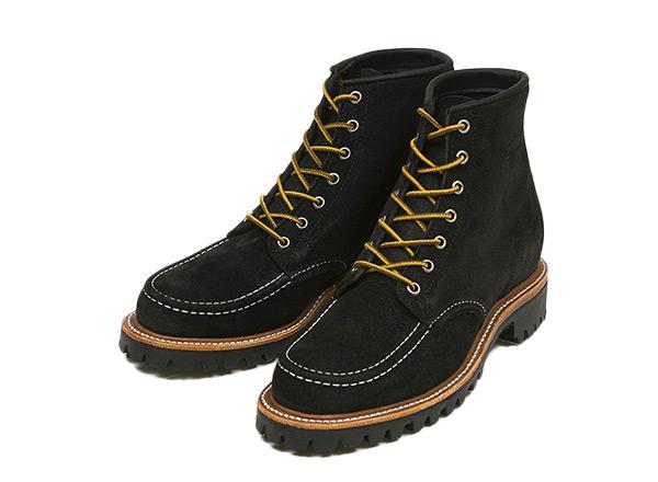 【CHIPPEWA】 チペワ 6-IN MOC LUGGED FD BOOT 6インチ モック ラギッド フィールドブーツ 1901M62 BLACK SUEDE