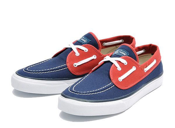 【SPERRY TOP-SIDER】 スペリー トップサイダー SEAMATE シーメイト 13505849 NAVY/RED