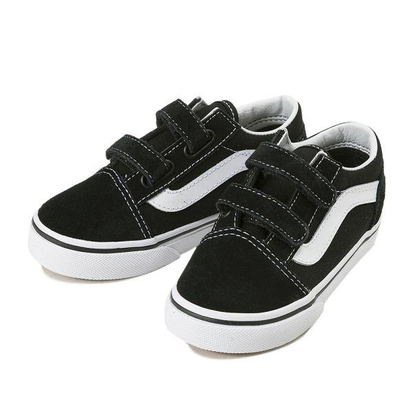 購買 キッズ スニーカー 子供靴 送料無料 VANS ヴァンズ OLD V VN000D3YBLK オールドスクール SKOOL BLACK スーパーSALE セール期間限定
