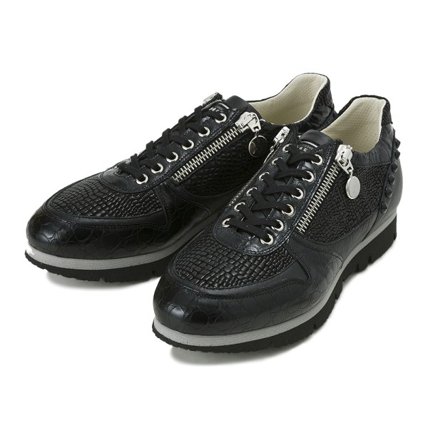 【BAGATTO】 バガット STUDS LACE UP スタッズ レースアップ スニーカー 3275 NERO