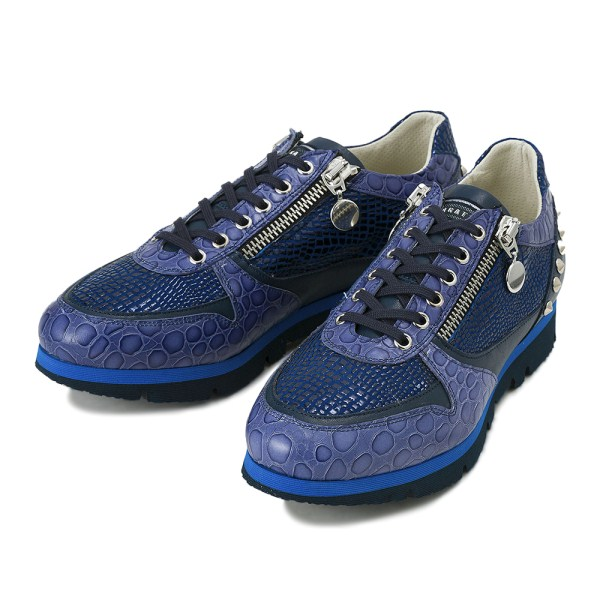 【BAGATTO】 バガット STUDS LACE UP スタッズ レースアップ スニーカー 3275 BLUE