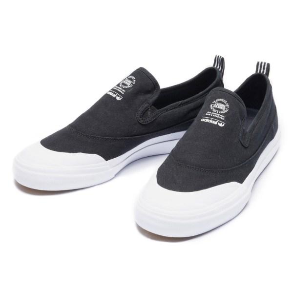 【ADIDAS】 アディダススケートボーディング MATCHCOURT SLIP マッチコート スリップ F37387 BLK/BLK/FTWWHT