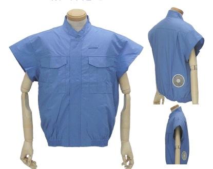 空調服 作業服 扇風機付き作業服 電設作業用空調服 電気設備用作業服(服、ファン2個、ケーブル、 空調服 リチウムイオンバッテリーセット)BMK-500U