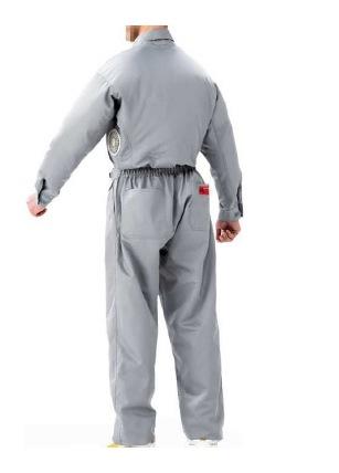 空調服 作業服 扇風機付き作業服 空調服 綿・ポリ混紡 長袖ツヅキ服 服、ファン、電池ボックス K-500T2 3L~5L