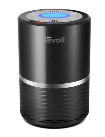Levoit 空気清浄機 小型 花粉・アレル物質対策 PM2.5対応 省エネ 風量切替 脱臭 夜間ライト付き 高性能HEPAフィルター搭載 ヘパフィルター搭載 ブラック