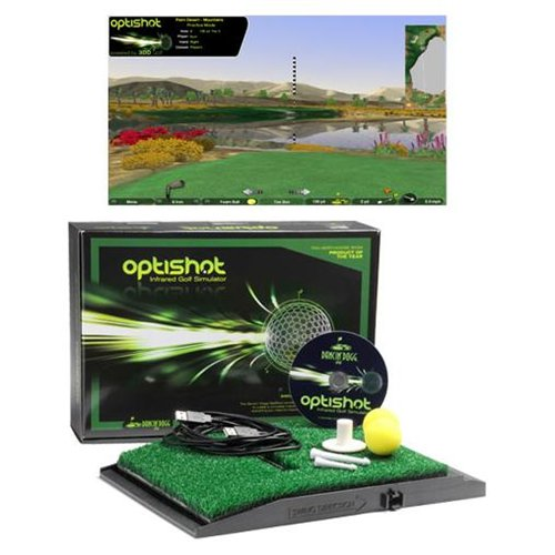 OPTISHOTマイゴルフ オプティショット 赤外線 ゴルフシミュレーター 専用打席マット付き(1200mm×1500mm)