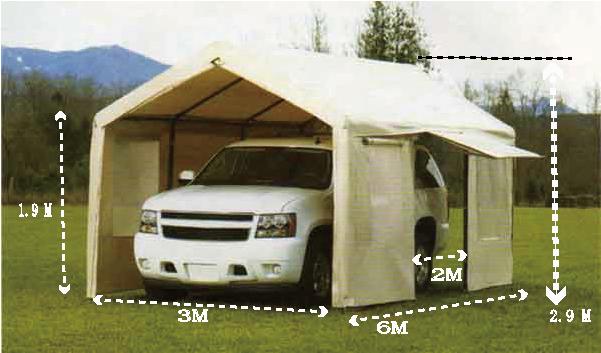スチールフレーム キャノピー 簡易テント式車庫 キャノピーテント 3m×6m×2.9m スチールフレーム キャノピー 簡易 倉庫 物置 大型テント 3m×6m×2.9m キャノピーテント テント式車庫 スチールキャノピー スチール製 キャノピー