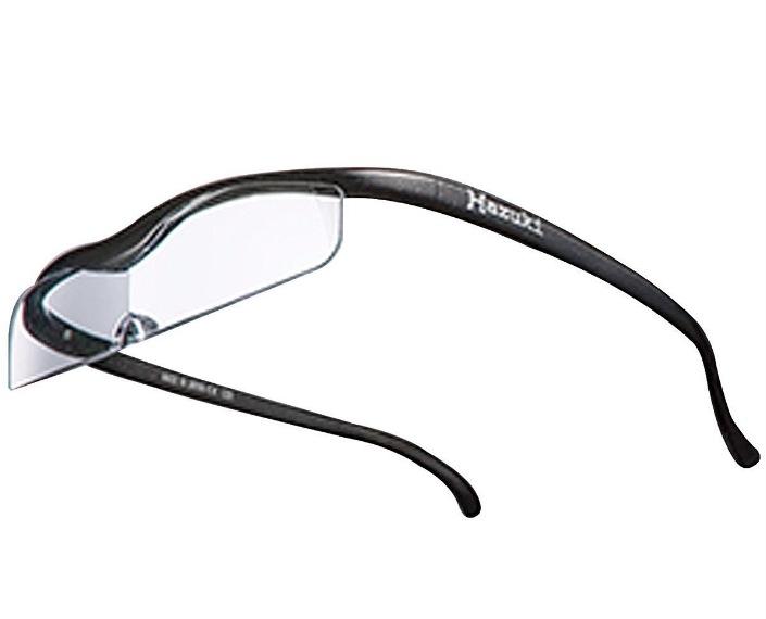 Hazuki 眼鏡式ルーペ 黒 ブルーライト対応 クリアルーペ 1.32倍 スリムレンズ クールハズキ