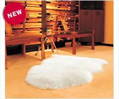 シープスキン製ムートンラグ 105×63cm アイボリー ブラウン ラウイトブラウン 1匹 windward ムートン ラグ カーペット ソファーカバー シープスキン 羊毛