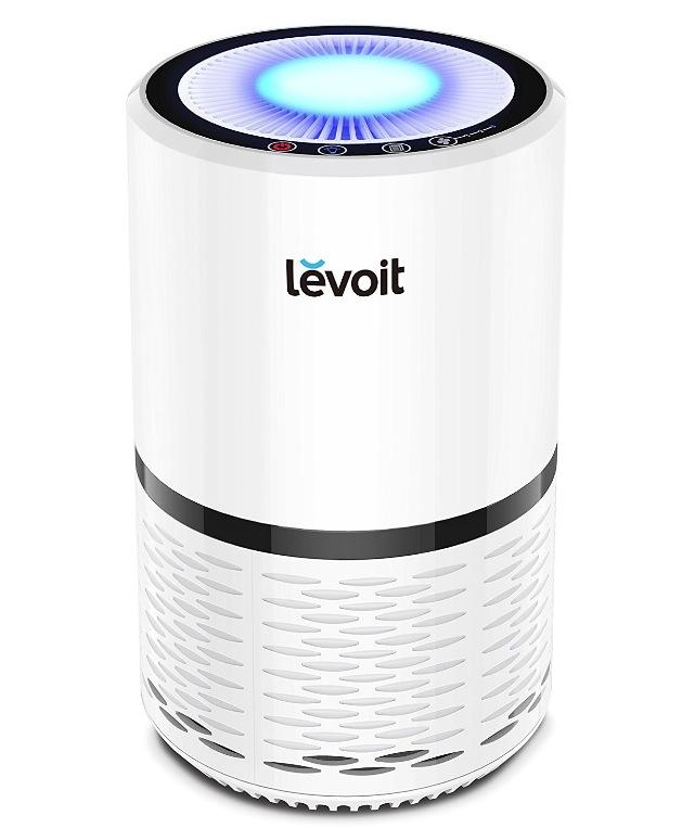 Levoit 空気清浄機 小型 花粉・アレル物質対策 PM2.5対応 省エネ 風量切替 脱臭 夜間ライト付き 高性能HEPAフィルター搭載 ヘパフィルター搭載 LV-H132