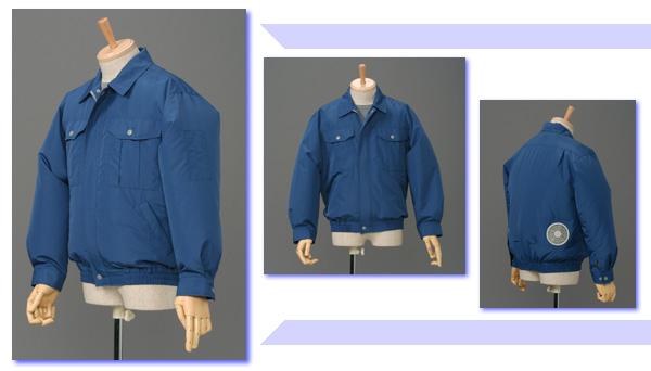 数量限定特価 空調服 服作業服 P-500N ダークブルー 5L【服の中に涼しい風を送ります 空調スーツ】