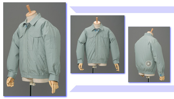 即納可能 空調服 綿製 薄手 作業服 M-500U サイズ5L 色ライトブルー 綿100% 【服の中に涼しい風を送ります 空調スーツ】 あす楽対応 空調服【smtb-k】【kb】