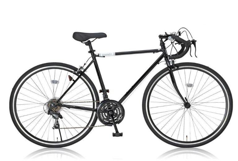 Grandir(グランディール) ロードバイク 700C シマノ21段変速[サムシフター] 2WAYブレーキシステム搭載 フレームサイズ520 Grandir Sensitive ブラック