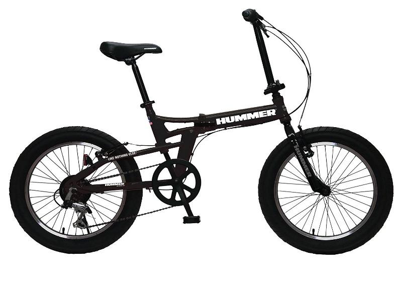 HUMMER(ハマー) FDB206FAT-BIKE 20インチ 極太3.0タイヤ 折りたたみ式 ファットバイク 迫力ある自転車 シマノ製6段変速/前後Vブレーキシステム