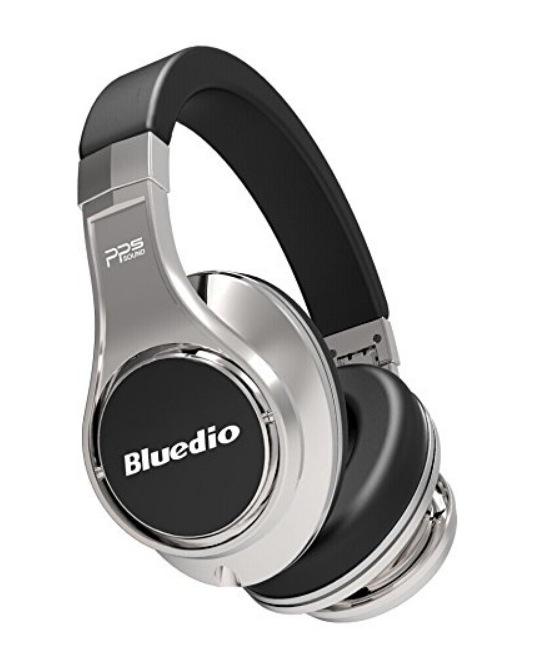 Bluedio U(UFO) High-end Bluetooth ヘッドホン 八つのドライバー 3Dステレオサウンド ヘッドフォン ヘッドセット 折り畳み式 (ブラックシルバー)