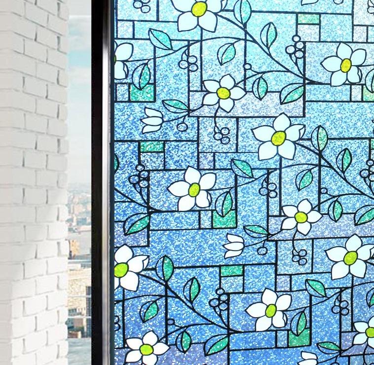 貼るだけで 磨りガラス スリガラス 擦りガラス 窓シート 窓用フィルム 目隠しシート【水で貼る 貼り直し可能】ガラスフィルム 装飾フィルム 紫外線・UVカット 艶消し (0.9M X 3M)DP003A