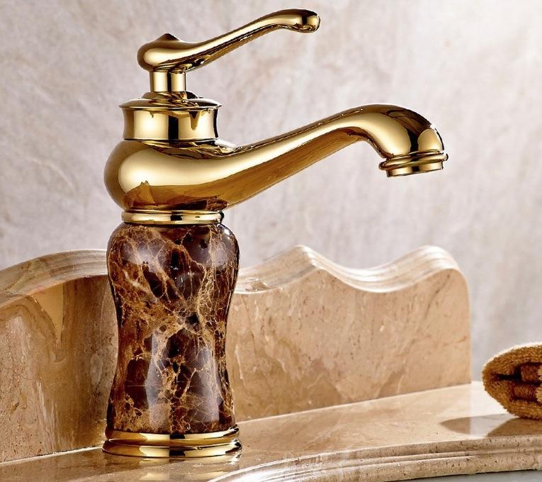 洗面用 アンティーク 混合水栓 蛇口 シングルレバー ランプ型 ヨーロッパ風 手洗いボウル用 洗面台 混合栓  取り付けホース付き (ブラウン) おしゃれな蛇口 かっこいい オシャレな蛇口 モデルルームに使用 蛇口 ゴージャス 豪華な蛇口