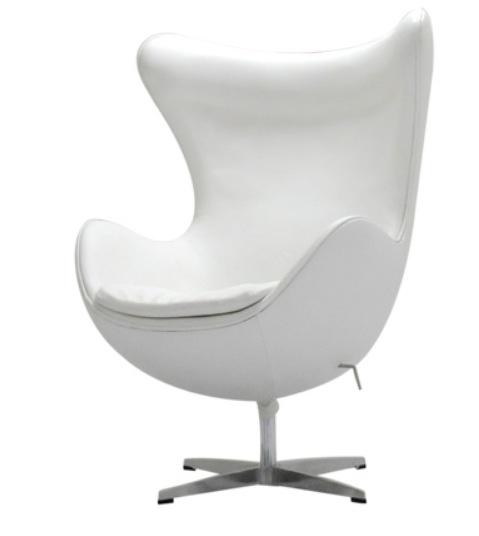 アルネ・ヤコブセン エッグチェア 本革仕様 レザー仕様 本革仕様 色:ホワイト