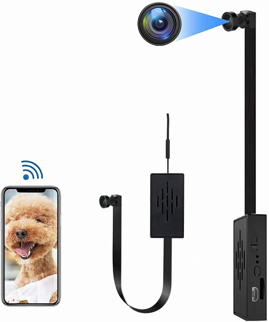 全国送料無料 あす楽対応 翌日配達 1080P HD 4K WifiミニWiFiDIYスパイカメラ1080Pワイヤレスホーム隠しカメラモジュール動き検出ホームセキュリティ記録小型4Kカメラスマートフォンリモートビューイング 通販 P2P 広角110° 安値