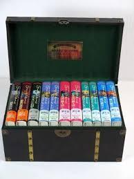 ご贈答向け プレゼント ハリーポッター【豪華木製BOX付】ハードカバー全巻セット☆ハリー・ポッターシリーズ全巻7巻11冊セット 【中古】