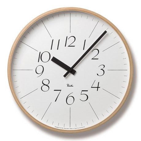 WR-0312L リキクロック RIKI CLOCK 渡辺力 RIKI WATANABE タカタレムノス 掛け時計 TAKATA Lemnos おしゃれ デザイナーズ ブランド グッドデザイン シンプル 【送料無料】