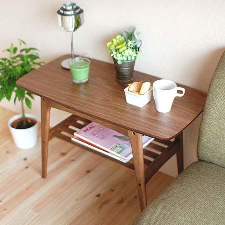 TAC-227WAL TOMTE トムテ コーヒーテーブル S センターテーブル 木製テーブル ソファーテーブル コンパクト ウォールナット 【送料無料】