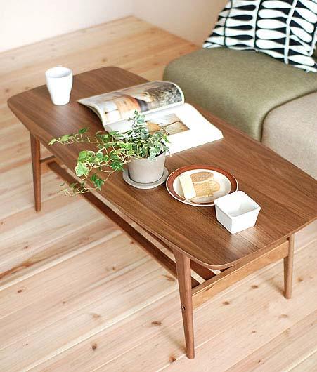 TAC-228WAL TOMTE トムテ コーヒーテーブル M センターテーブル 木製テーブル ソファーテーブル コンパクト ウォールナット 【送料無料】