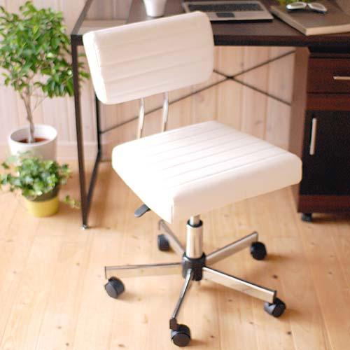 HA-140BK WH ケントチェア デスクチェアー KENT chair ブラック ホワイト 回転式 昇降式 ロッキング シンプル 合皮張り リラックス 幅広 イス いす AY エーワイ 【送料無料】