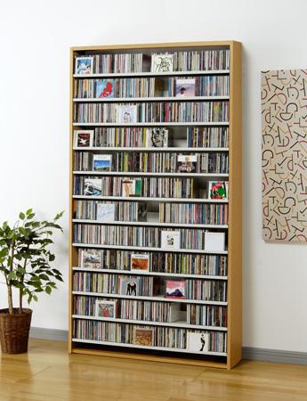 CS1284 CD1284N CD1284D CD1284W ナチュラル ダーク ホワイト AUX オークス CD ストッカー CD 収納 DVD 薄型 コンパクト 大量 大容量 幅110cm以下 【送料無料】