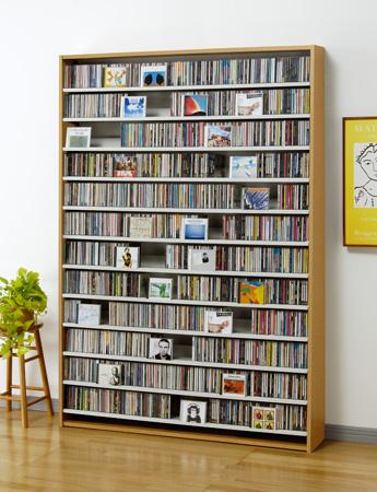 CS1668 CD1668N CD1668D CD1668W ナチュラル ダーク ホワイト AUX オークス CD ストッカー CD 収納 DVD 薄型 コンパクト 大量 大容量 幅140cm以下 【送料無料】