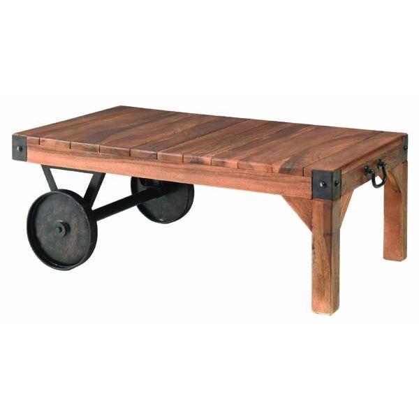 TTF-117 トロリー テーブル S センターテーブル リビングテーブル ローテーブル ソファーテーブル 90cm幅 車輪付き 古木 東谷 アズマヤ ROOM ESSENCE ルームエッセンス