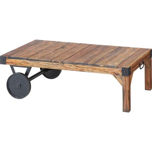 TTF-116 トロリー センターテーブル リビングテーブル ローテーブル ソファーテーブル 106cm幅 車輪付き 古木 東谷 アズマヤ ROOM ESSENCE ルームエッセンス