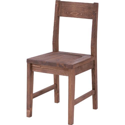 CFS-840 ブラウン ダイニングチェアー Rouen ルーアン アンティーク 38cm幅 食卓 食堂 長椅子 イス いす 細め 小ぶり 素朴 パイン 東谷 アズマヤ ROOM ESSENCE ルームエッセンス