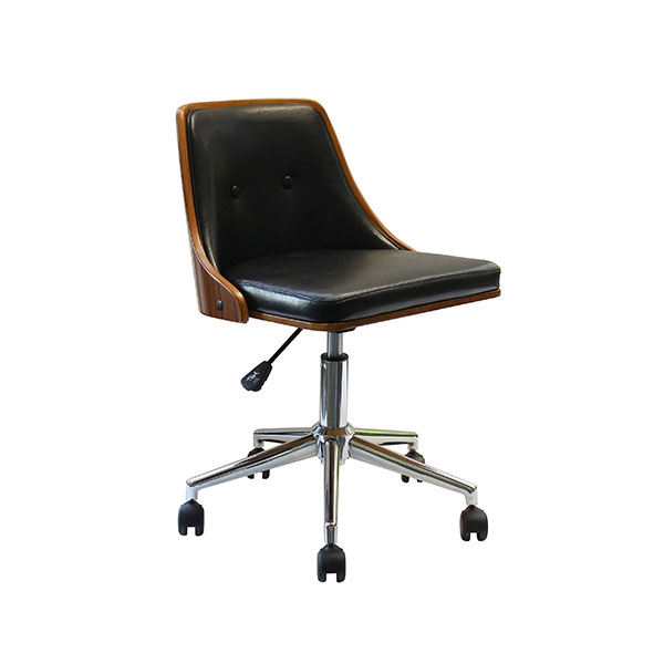 HA-012(BR) チェアー Steed スティード デスクチェアー 回転式 昇降式 落ち着きのある 書斎椅子 イス いす 高級感 AY エーワイ 木製 合皮張り 【送料無料】