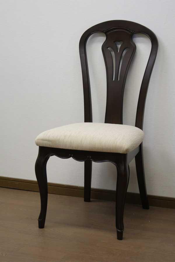 チェアーB フルール DM WH fleur ダイニングチェアー 食堂 イス いす 椅子 猫脚 アンティーク 欧風 ヨーロッパ 猫脚 白家具 東海家具工業 【送料無料】